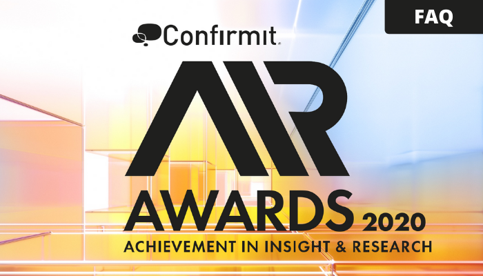 Confirmit AIR Awards Q&A