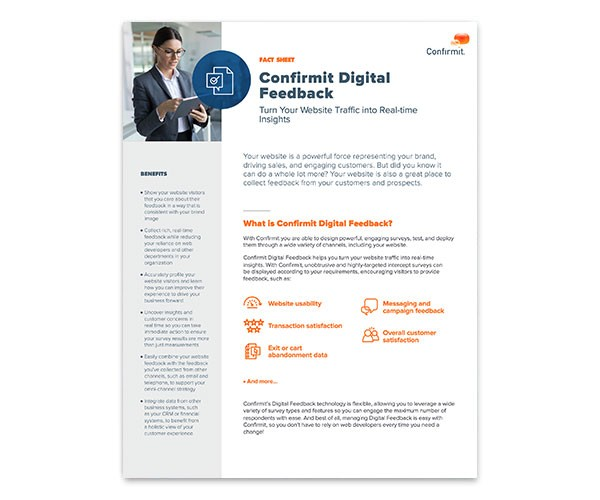 Confirmit Digital Feedback