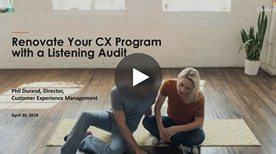 Renovate your CX program with a listening audit