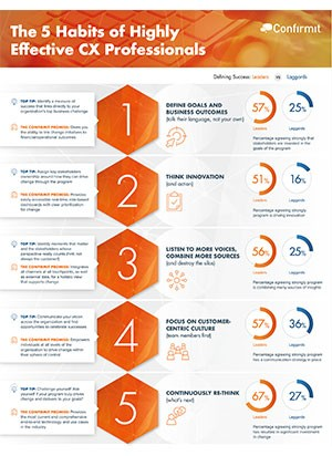 The 5 Habits of Highly Effective CX Professionals Info-graphic