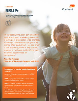 RBUP Case Study: Innovating child mental health services through unique research approaches