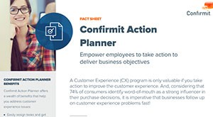 Confirmit Action Planner Fact Sheet
