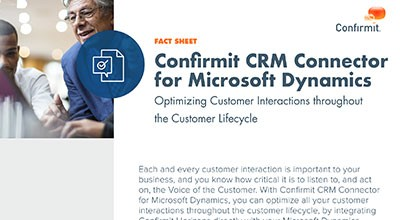 Confirmit CRM Connector for Microsoft Dynamics