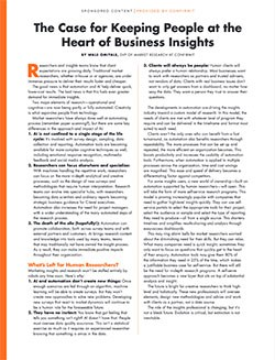 The Case for Keeping People at the Heart of Business Insights