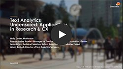 In this webinar, we've brought together a panel of text analytics experts to answer the challenging questions about text analytics technology.