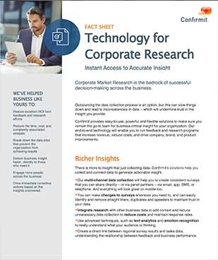 Technology for Corporate Research , Corporate Market Research is the bedrock of successful decision-making across the business.