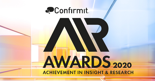 The Confirmit 2020 AIR (Achievement in Insight and Research) Awards now open